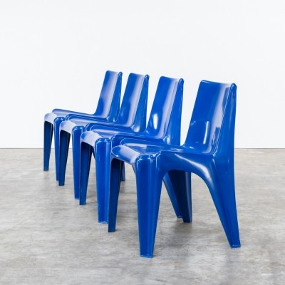 Set of 4 BA 1171 dining chairs by Helmut Bätzner for Bofinger, 1960s