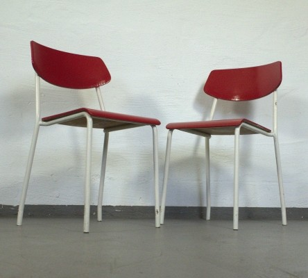 Set of 2 Poggenpohl dinner chairs from the fifties by unknown designer for unknown producer