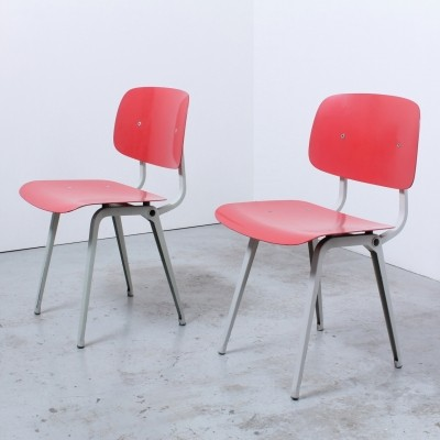 2 Revolt dinner chairs from the fifties by Friso Kramer for Ahrend de Cirkel