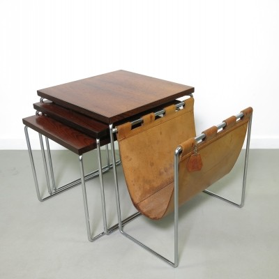 Nesting table from the sixties by unknown designer for Brabantia