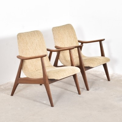 Set of 2 arm chairs from the fifties by unknown designer for Wébé