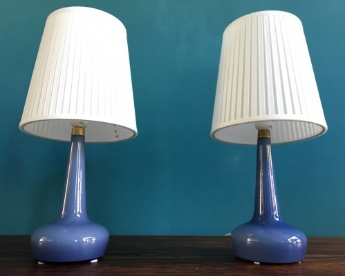 Pair of model 311 desk lamps by Esben Klint for Holmegaard, 1950s