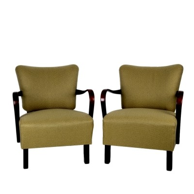 Set of 2 H 237 arm chairs from the fifties by Jindřich Halabala for UP Závody Brno