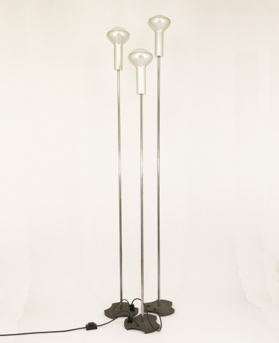 Set of 3 'model 1073' floor lamps by Gino Sarfatti for Arteluce