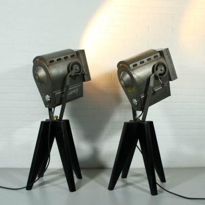 2 floor lamps from the sixties by unknown designer for Clemancon