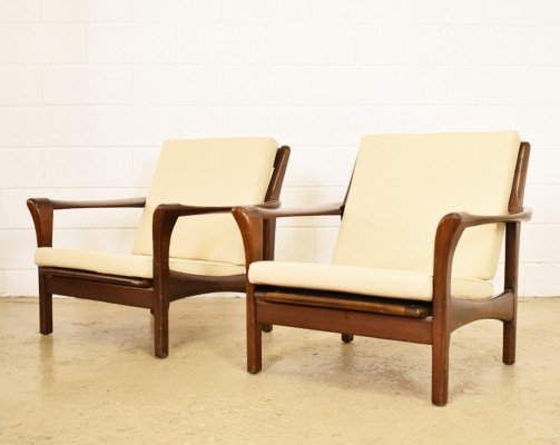 Set of 2 Stella lounge chairs from the sixties by Walter Knoll for Knoll Antimott