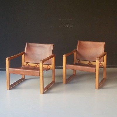Set of 2 Diana arm chairs from the seventies by Karin Mobring for Ikea
