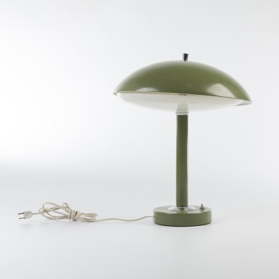 Original Mid-Century Green Desk Lamp with Original Cable