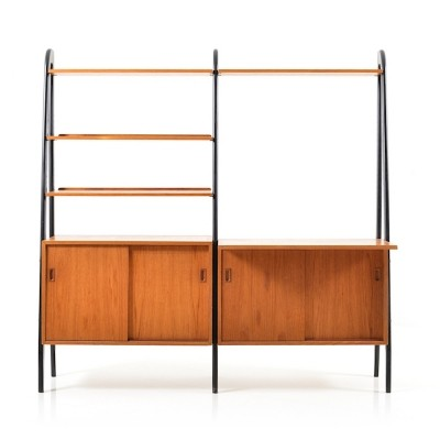 Mid-Century Danish Teak Shelf System or Bookcase, 1950s.