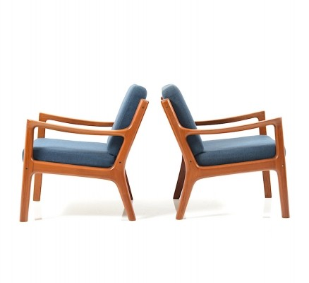 Pair of Senator Lounge Chairs in Teak by Ole Wanscher