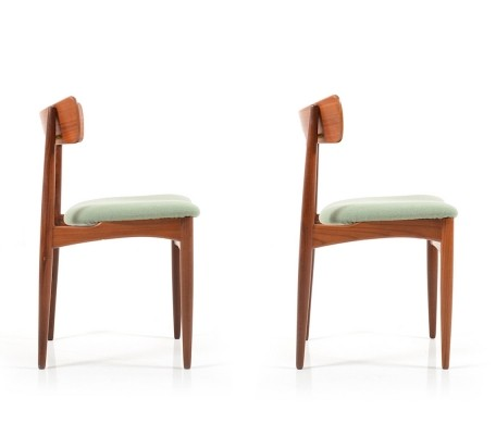 Pair of danish rare Bramin Chairs in Teak