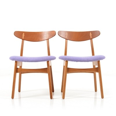 Pair of early Hans Wegner 'CH-30' Chairs