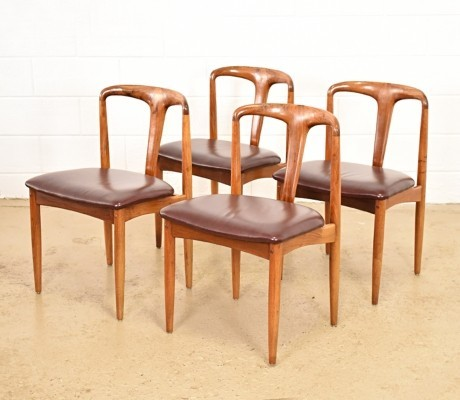 Set of 4 Rosewood Juliana dinner chairs from the fifties by Johannes Andersen for Uldum Møbelfabrik