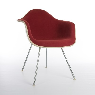 Original Red Upholstered Eames DAX Chair