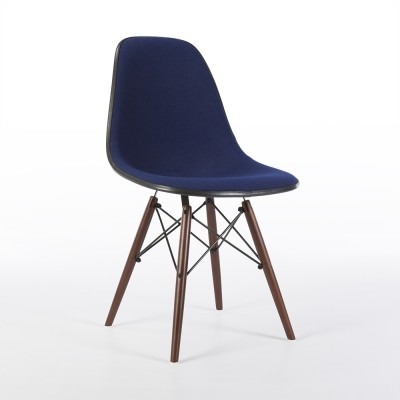 Original Royal Blue Alexander Girard Upholstered Eames DSW Side Shell Chair