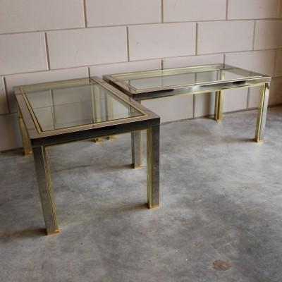 Set of 2 side tables from the seventies by Romeo Rega for unknown producer