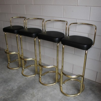 Set of 4 stools from the seventies by unknown designer for unknown producer