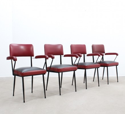Set of 4 Rima dining chairs, 1950s