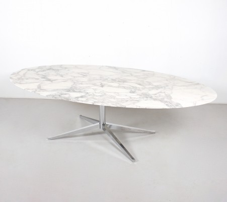 Oval dining table by Florence Knoll for Knoll International, 1960s