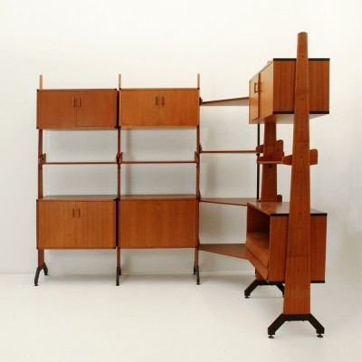 Wall unit from the sixties by unknown designer for AV Arredamenti Contemporanei