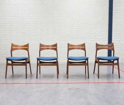 Set of 4 Model 310 dinner chairs from the fifties by Erik Buck for Christiansen Møbelfabrik