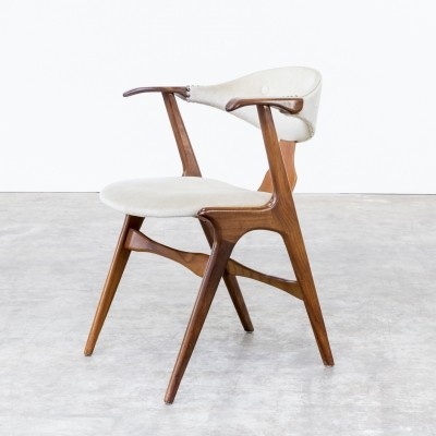 Set of 4 Cowhorn dinner chairs from the sixties by Louis van Teeffelen for Wébé