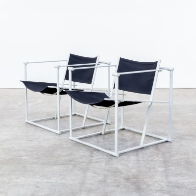 Set of 2 FM60 cube lounge chairs from the eighties by Radboud van Beekum for Pastoe