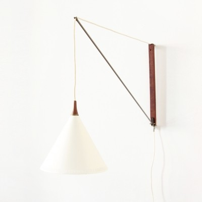 Arc wall lamp from the fifties by Willem Hagoort for Hagoort Lighting