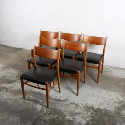 6 dinner chairs from the sixties by unknown designer for Pastoe