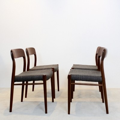 Model 75 Dining Chairs by Niels Otto Møller for J.L. Møllers Møbelfabrik A/S