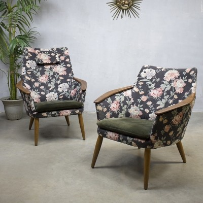 Set of 2 lounge chairs from the fifties by unknown designer for Bovenkamp