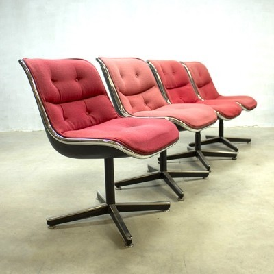 4 dinner chairs from the sixties by Charles Pollock for Knoll