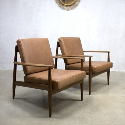 2 lounge chairs from the fifties by Grete Jalk for France & Daverkosen