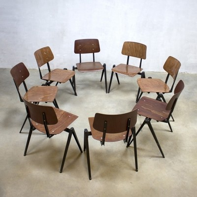 8 dinner chairs from the sixties by unknown designer for Galvanitas