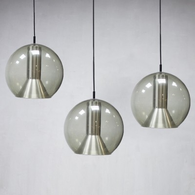 Set of 3 hanging lamps from the sixties by Frank Ligtelijn for Raak Amsterdam