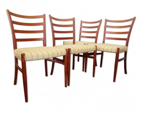Set of 4 dining chairs by Johannes Andersen for Schou Andersen SVA Møbler, 1960s