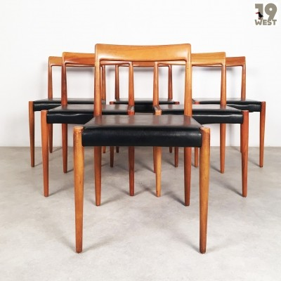 Set of 6 dinner chairs from the sixties by unknown designer for Lübke