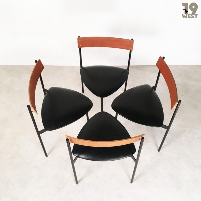 Set of 4 Twen dinner chairs from the fifties by unknown designer for Rego Mobile Möbel