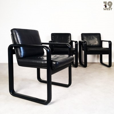 3 Hombre arm chairs from the seventies by Burkhard Vogtherr for Rosenthal