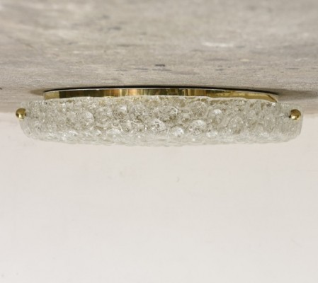 Bubble Textured Glass Flush Mount by Hillebrand