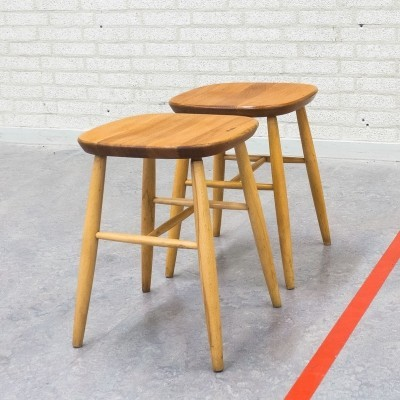 Set of 2 stools from the fifties by unknown designer for unknown producer