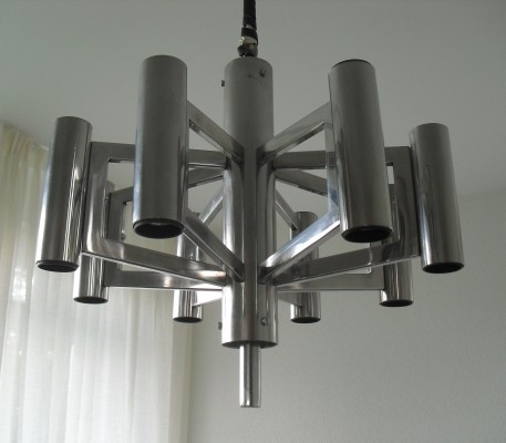 2 hanging lamps from the sixties by unknown designer for unknown producer