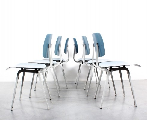 Set of 6 Revolt dinner chairs from the sixties by Friso Kramer for Ahrend de Cirkel