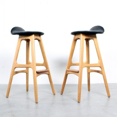 Pair of stools by Erik Buch & Erik Buck for O. D. Møbler, 1960s
