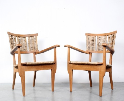 Pair of Mart Stam arm chairs, 1940s