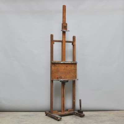 Painters easel from the forties by unknown designer for unknown producer
