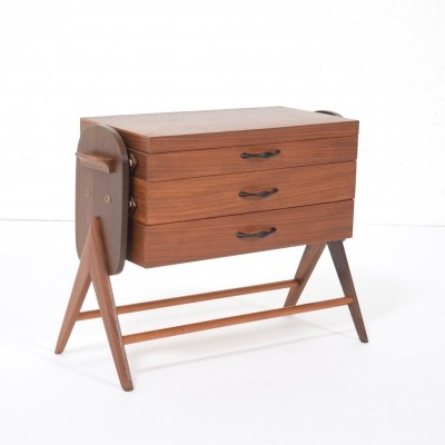 Teak sewing box from the fifties