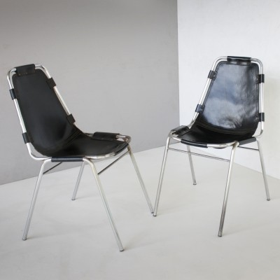 Pair of Vintage Les Arcs Chairs by Charlotte Perriand