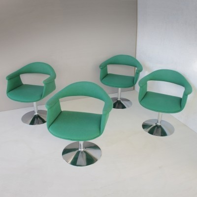 Six Captain's Swivel Chairs by Eero Aarnio for Asko