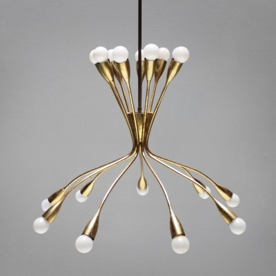 Eighteen-Light Chandelier from the fifties